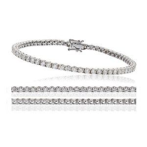 Women Tennis Bracelet 6.50 Carats Round Small Diam